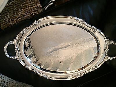 Reed Barton Silver Plated / Sterling Tray Platter