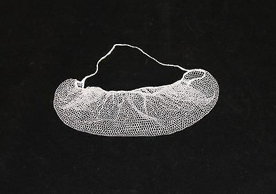 Keystone White Nylon Honeycomb Pattern Beard Net, Bag of 100 (112HPI)