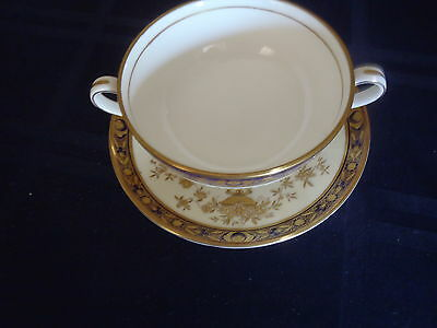 Minton Dynasty Cream Soup Bowl (S) And Underplate (S)