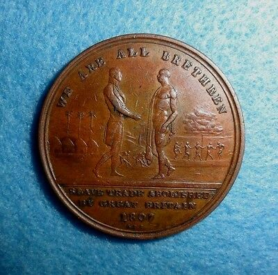1807 Great Britain Anti-Slavery Medal, For the End Of Slavery in The Empire.