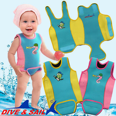 Neoprene Wetsuit Wrap Warm Infant Baby Swim Toddler Vest Swimwear