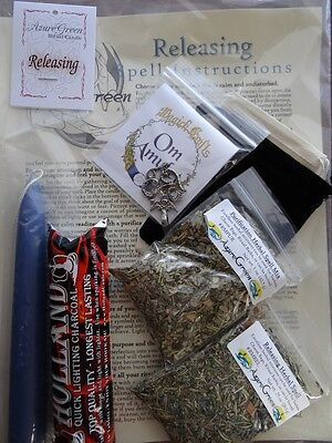 Releasing All in One Ritual Spell Kit Pagan Witchcraft Altar Supply