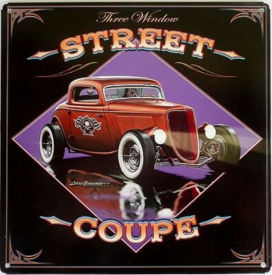 Three Window Street Coupe Metal Sign