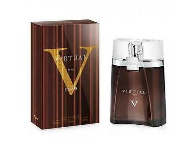VIRTUAL by LOMANI COLOGNE FOR MEN 3.3 OZ / 100 ML EDT SPR BRAND NEW SEALED BOX