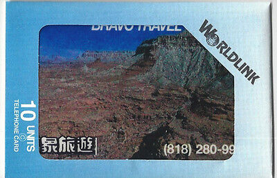 TK Telefonkarte/Phonecard Worldlink 10u Bravo Travell Grand Canyon Aufl. 225