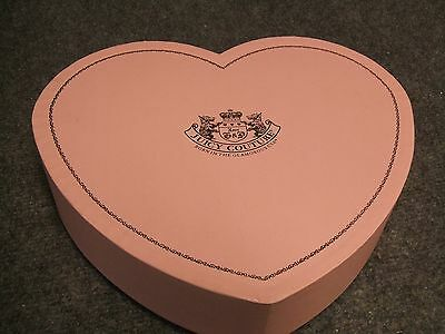 """VINTAGE RARE JUICY COUTURE PINK JEWELRY BOX HEART 10X8.5""""  LOVE G & P `RARE`"""