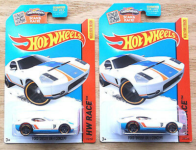 2015 Hot Wheels Set of 2 Ford Shelby GR-1 Concept Kmart Exclusive!