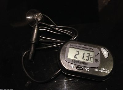 Tropical Marine Aquarium Digital LCD Temperature Monitor With Probe Free UK PP