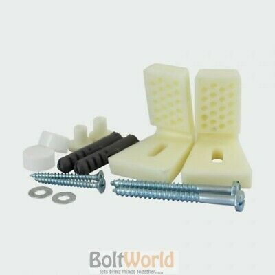 Wc Bidet Toilet Pan Semi Pedestal Fixing Kit Angled White Caps Accessory Pack