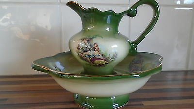 KH pottery staffordshire  vintage small jug and basin