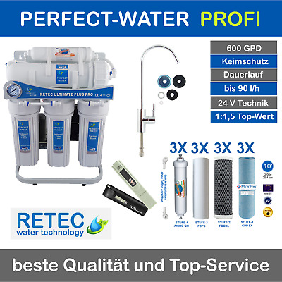 Ultimate PLUS Pro umkehr Osmose Wasserfilter 600 GPD direct flow gen. 2017