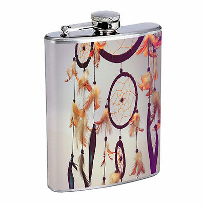 Dreamcatcher Flask D2 8oz Stainless Steel Native American Culture Willow Snare