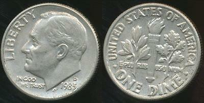 United States, 1983-D Dime, Roosevelt - Uncirculated