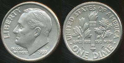 United States, 1989-D Dime, Roosevelt - Choice Uncirculated