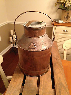 Copper Milk Can, Used