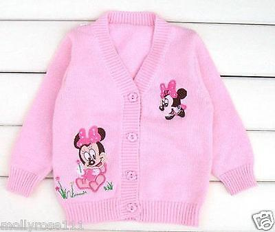 Baby Girls 'Minnie Mouse' Baby Apricot .. Pink  Disney Summer Cotton Cardigan