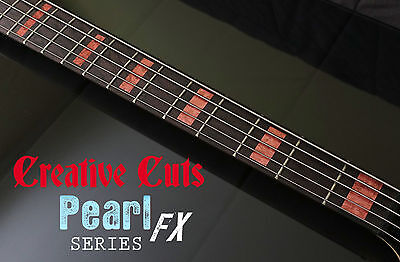 Blocks RED PEARL Fret Marker block Inlay Sticker Decals for 5 STRING BASS Guitar