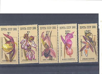 Stamps with orchids