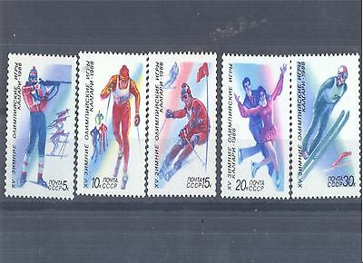 Stamps commemorates XV Winter Olympic games in Kalgary.
