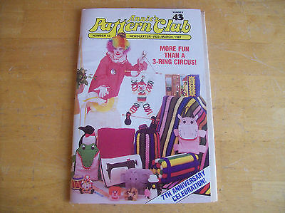 Annie's Pattern Club Feb/March 1987 # 43 With Pattern Sheet 7th Anniversary