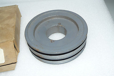 "New Morse 2Ak49H Double Groove Sheave Belt Pulley 1 1/2"" Bore"