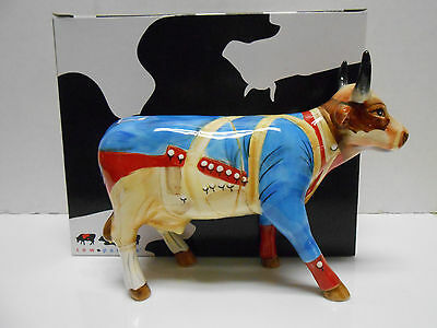 2004 REVOLUTIONARY WAR COW FIGURINE #7339 New in Box, Retired! Cow Parade