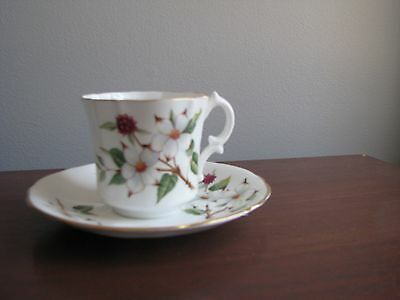 Hammersley & Co. Footed Dogwood Blossom Cup and Saucer
