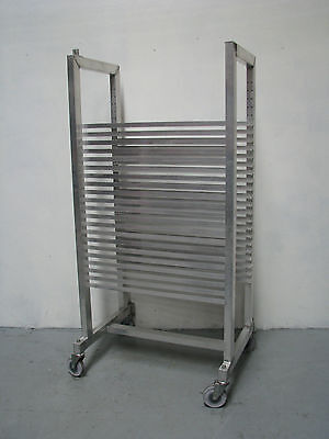 Aluminium Mobile Bakery Rack Trolley - 21 Tray