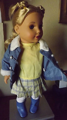 """Beautiful Geoffrey 18""""  Doll Girl Blonde Hair Blue Eyes with 6 pc outfit"""