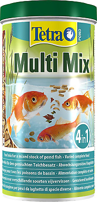 TETRA MULTI MIX BLEND STICKS 1L 170g TUB FOOD FOR ALL POND FISH KOI GARDEN