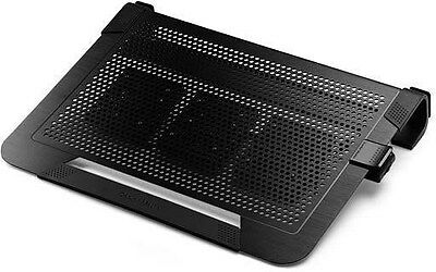 Cooler Master Notepal U3 Plus Laptop Stand with 3 x 80mm Removable Fans (Black)
