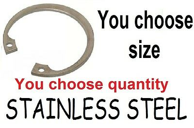NEW STAINLESS STEEL Internal c clip circlips, 8mm,10mm,11mm,U choose size &No.
