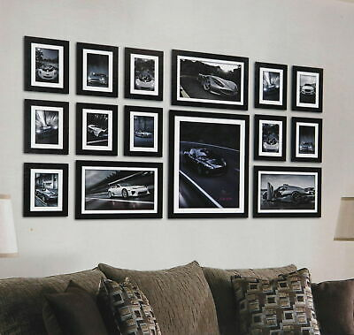 15 Pcs Nice Wooden Wood Effect Multi-Picture Photo Frames Wall Hang Frames Set