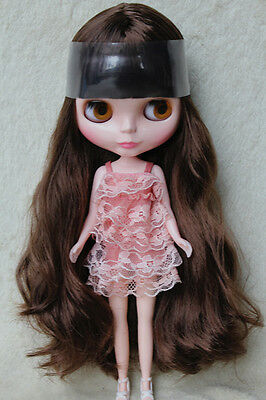 """New 12"""" Neo Blythe doll nude Takara doll from factory  Brown hair S02"""