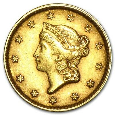 $1 Liberty Head Gold Coin - Type 1 - Random Year -Almost Uncirculated-SKU #23230