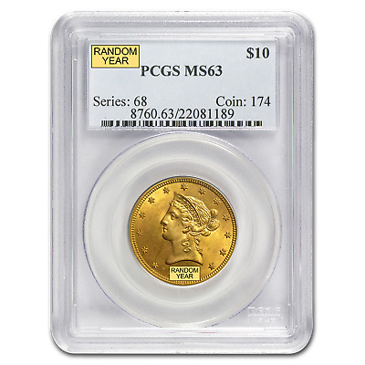 $10 Liberty Gold Eagle Coin - Random Year - MS-63 PCGS - SKU #10248