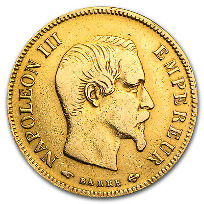 France 10 Francs Napoleon III Gold Coin - Average Circulated