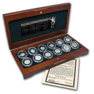 Roman Empire 12 Emperors Silver Coins - 12 Coin Collection - SKU #55590