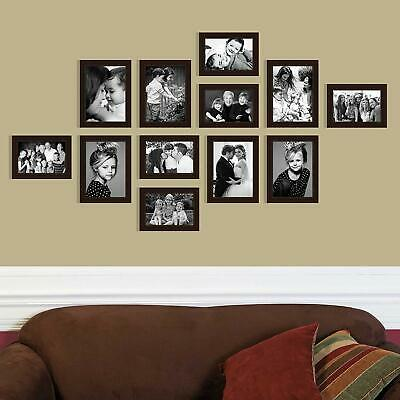 Photo Frame Picture Poster Wood Wall Decor Collage Hanging Mount Black Oak White