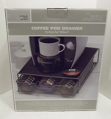 New Simple Solutions Deluxe Coffee Pod Drawer T-disc Organizer Tassimo