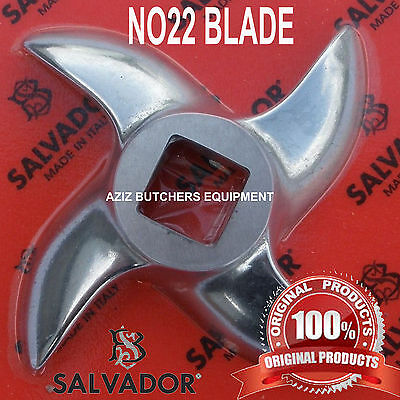 Salvador No 22 Stainless Steel Mincer Knife, Mincer Blade, Curved Edge