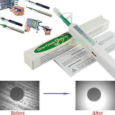 One-Click Fiber Optic Connector Cleaner 2.5mm for SC ST FC E2000 Fiber Cleaners