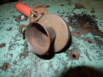 Antique PLAPHONE 211 GONG Bell MFG Candlestick Toy Phone Original OLD Head Piece