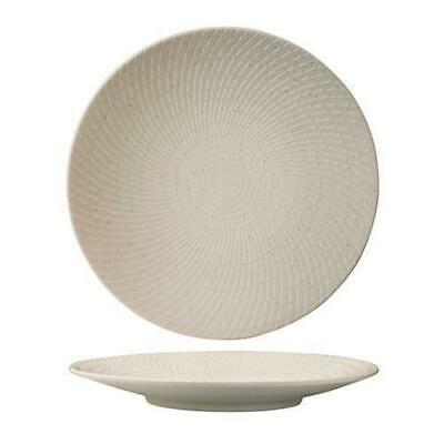 4x Round Coupe Plate, White Swirl, 275mm, Luzerne 'Zen', Commercial Quality