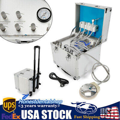 Dental Delivery Unit Rolling Case Powerful built-inoilless Compressor Portable