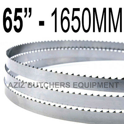 "Butchers Meat Bandsaw Blades (5 Pack). 65"" (1651mm) X 5/8"" X 4tpi"