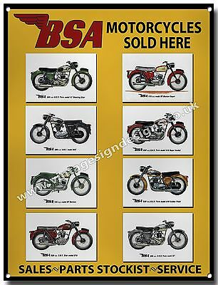 Bsa Motorcycles Sold Here Metal Sign.vintage Bsa Motorcycles.a3 Size Sign,bikers
