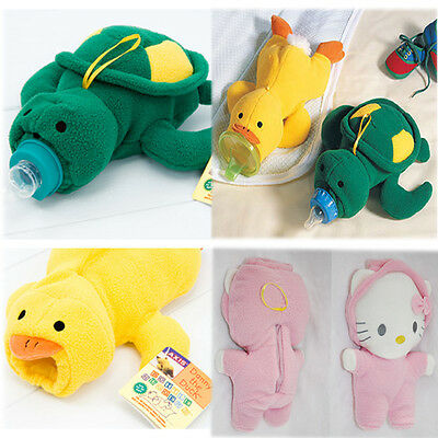 Baby Bottle Warmer Insulator Turtle Duck Cat Cute Infant Cover Toy Holder Winter