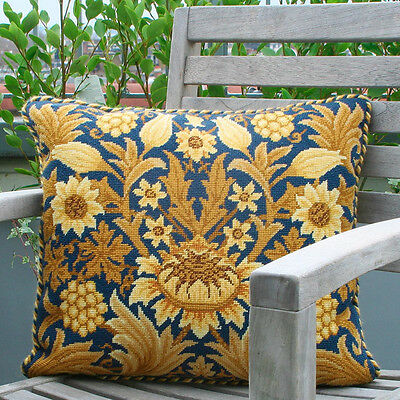 Sunflower by William Morris Needlepoint Cushion/ Chair Seat Kit - Beth Russell
