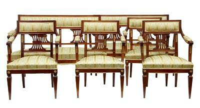 6 Piece Early 20Th Century French Mahogany Salon Suite